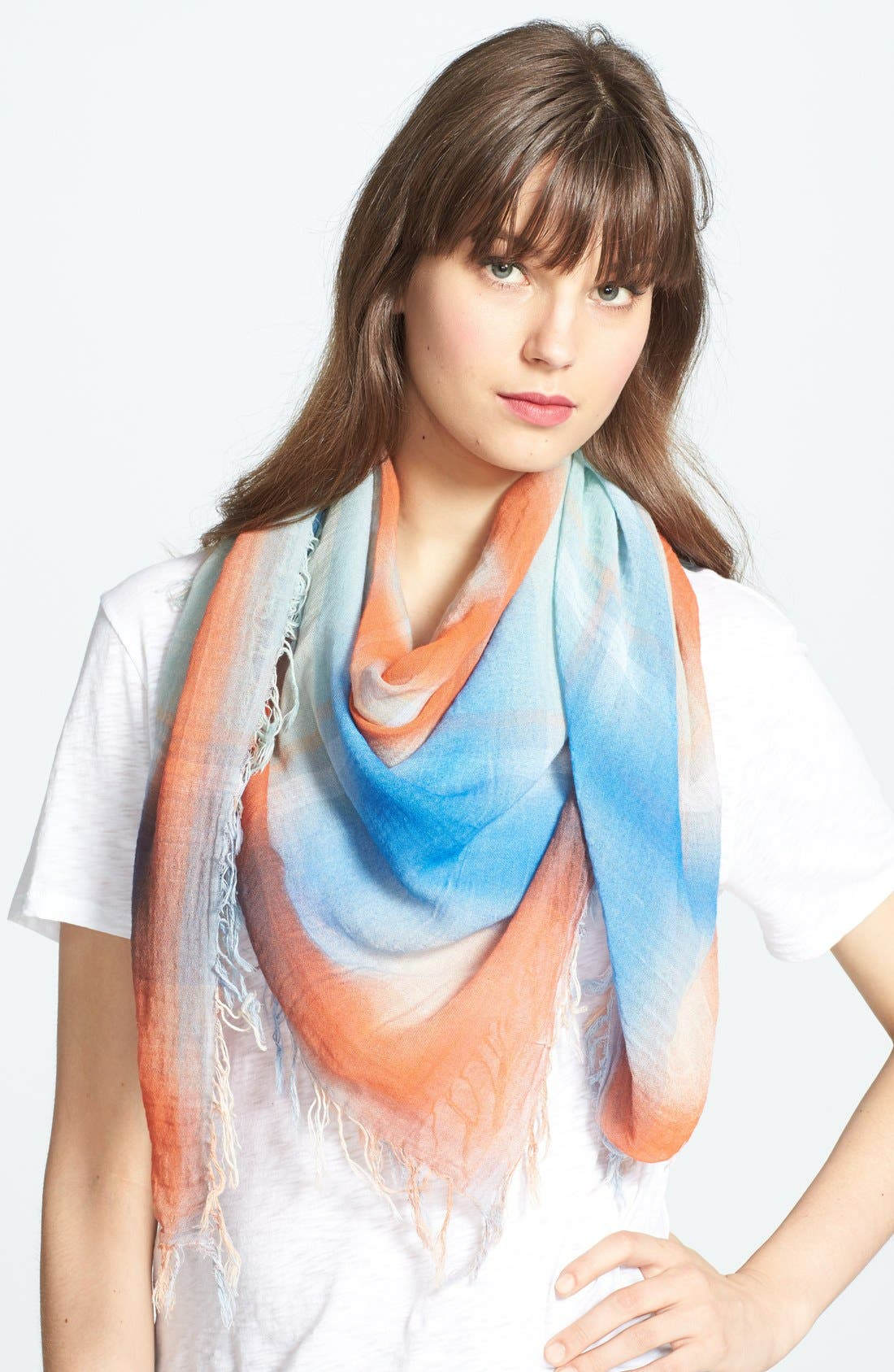 Main Image - MARC BY MARC JACOBS 'Spray Plaid' Yarn Dyed Scarf