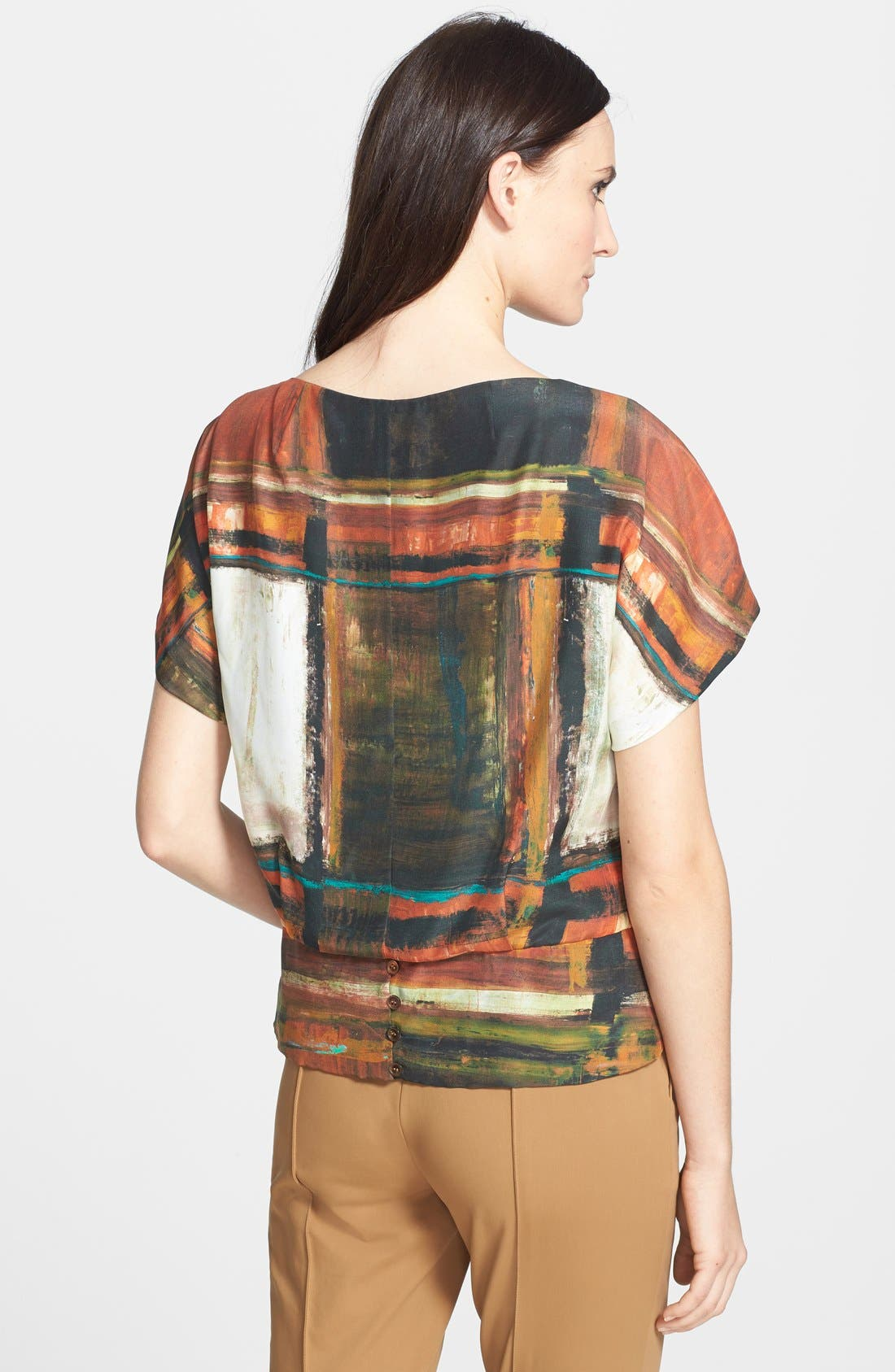 Alternate Image 2  - Lafayette 148 New York 'Shauna - Expressionist' Blouse