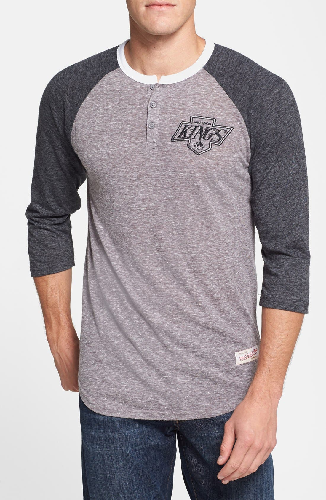 Main Image - Mitchell & Ness 'Los Angeles Kings - Hustle Play' Henley Shirt