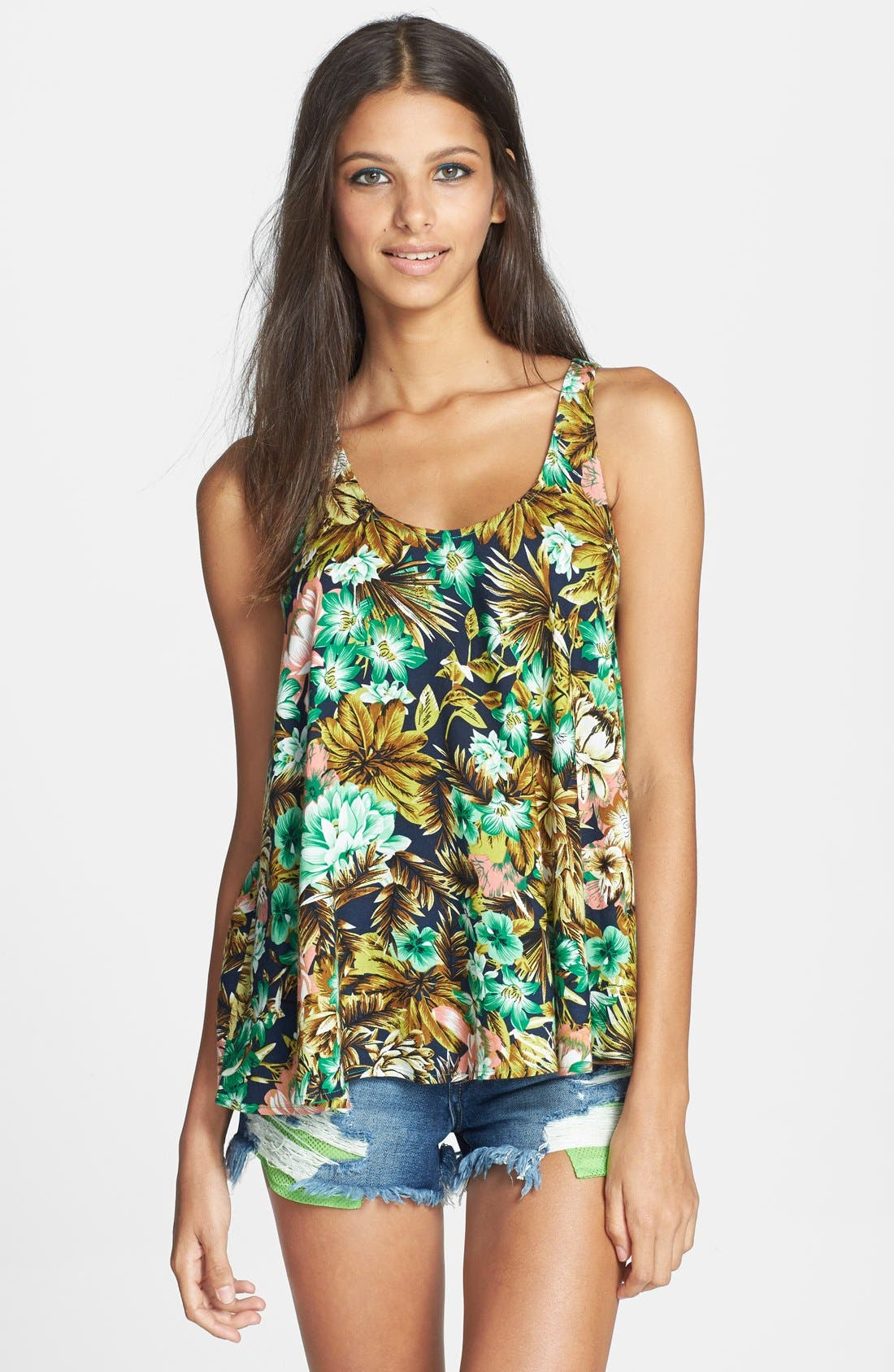 Alternate Image 1 Selected - Lucca Couture Print Racerback Tank