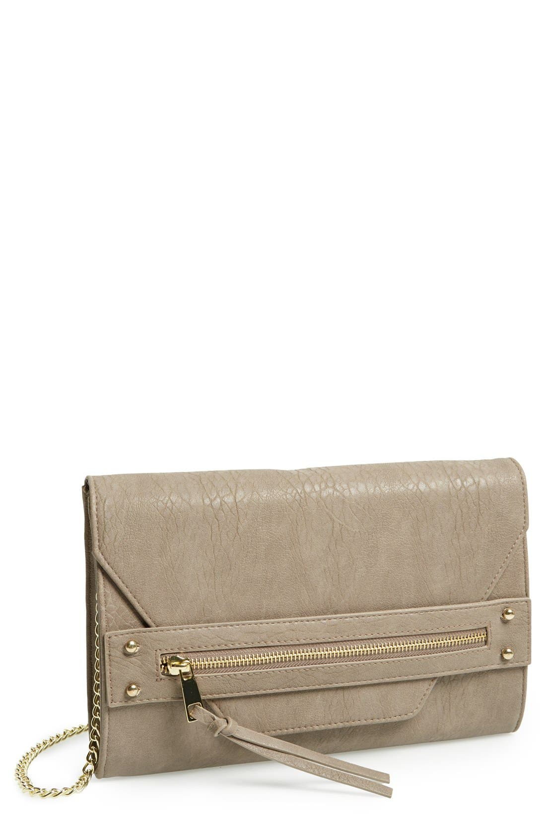 Main Image - Lulu Zip Detail Clutch (Juniors)