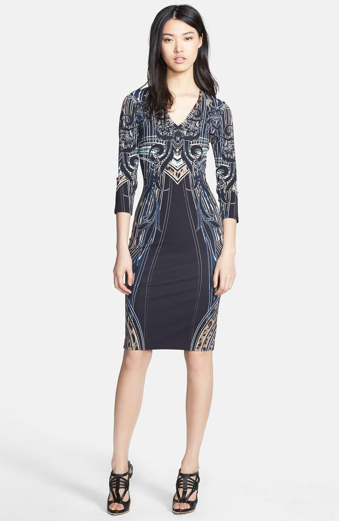 Main Image - Roberto Cavalli Leopard Deco Print Dress