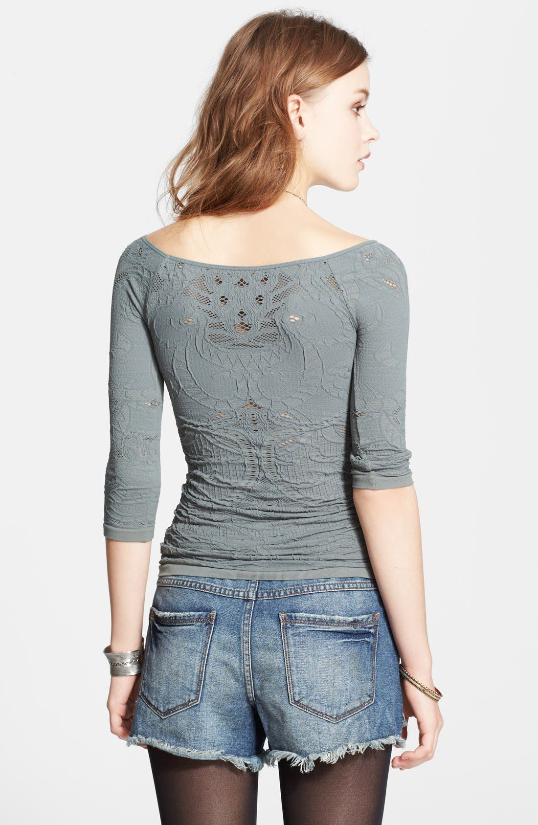 Alternate Image 2  - Free People Open Knit Off Shoulder Top