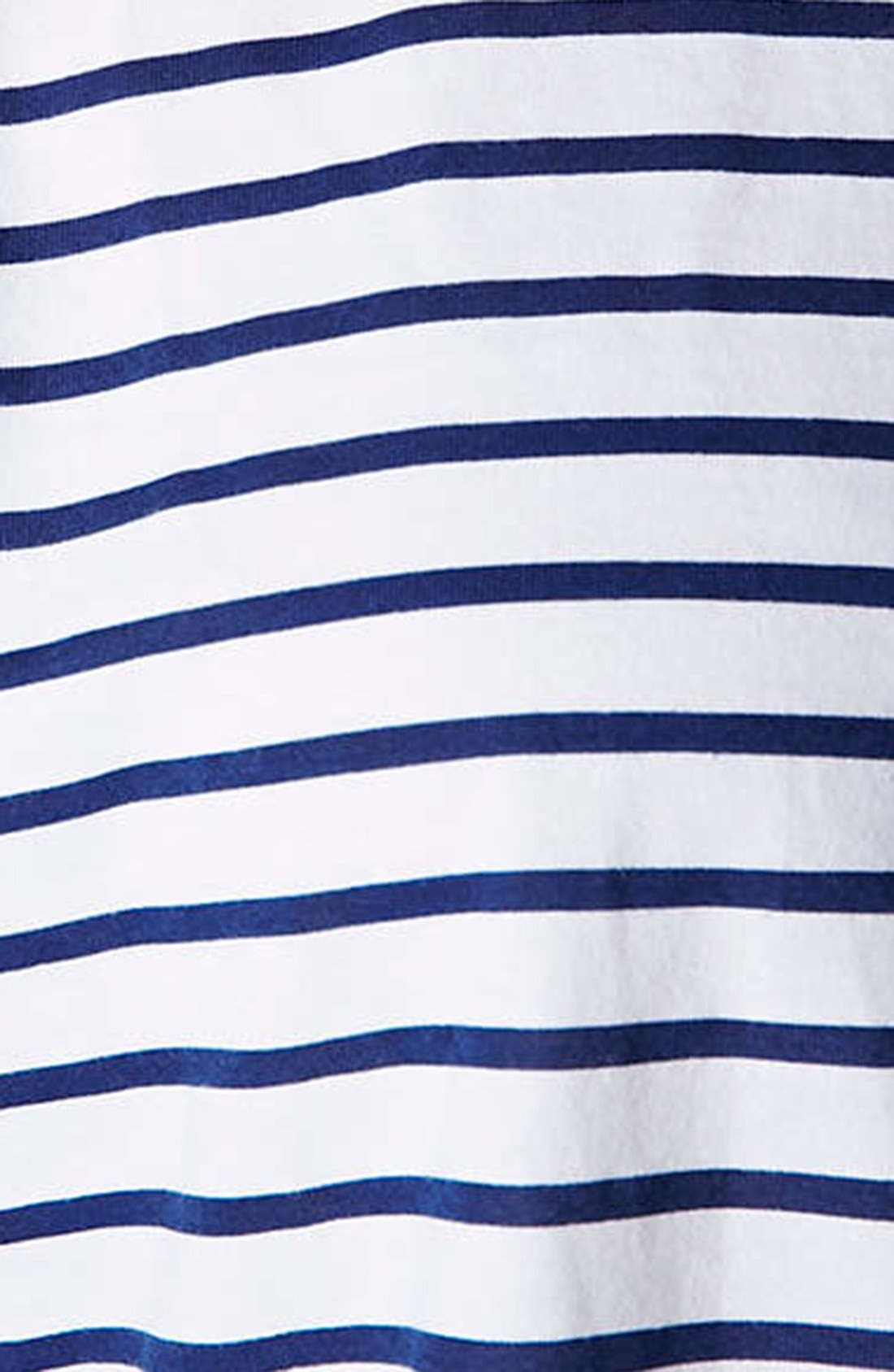 Alternate Image 3  - Topshop Stripe Organza Trim Tee (Regular & Petite)