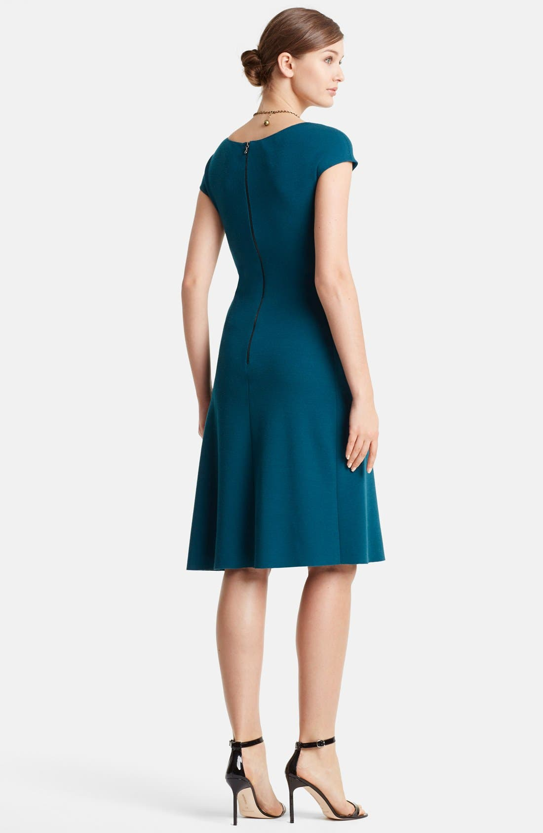 Alternate Image 2  - Lanvin Cap Sleeve Wool Jersey Fit & Flare Dress