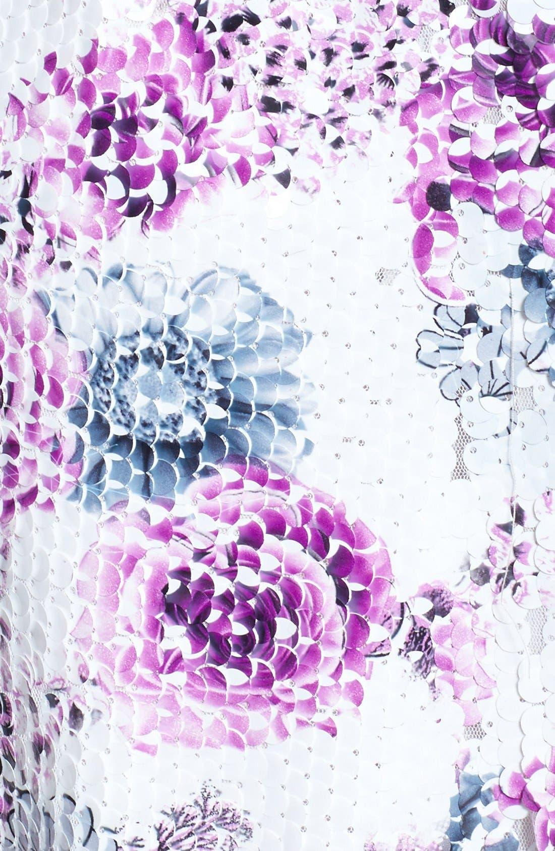 Alternate Image 4  - Dress the Population 'Brooke' Paillette Embellished Dress