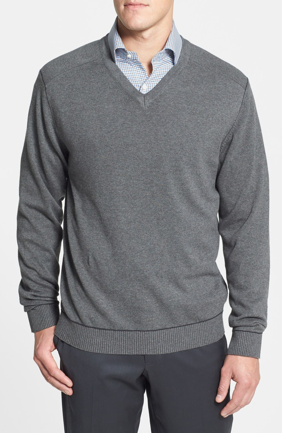Cutter & Buck 'Broadview' Cotton V-Neck Sweater