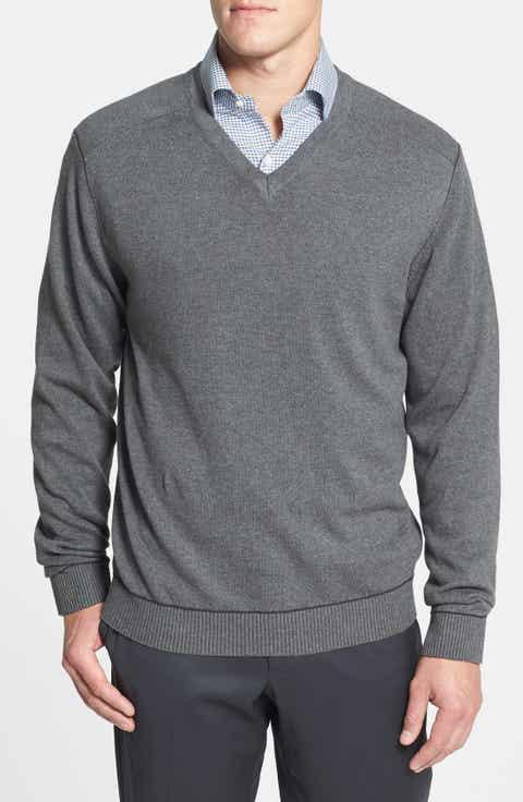 Cutter   Buck 'Broadview' Cotton V-Neck Sweater