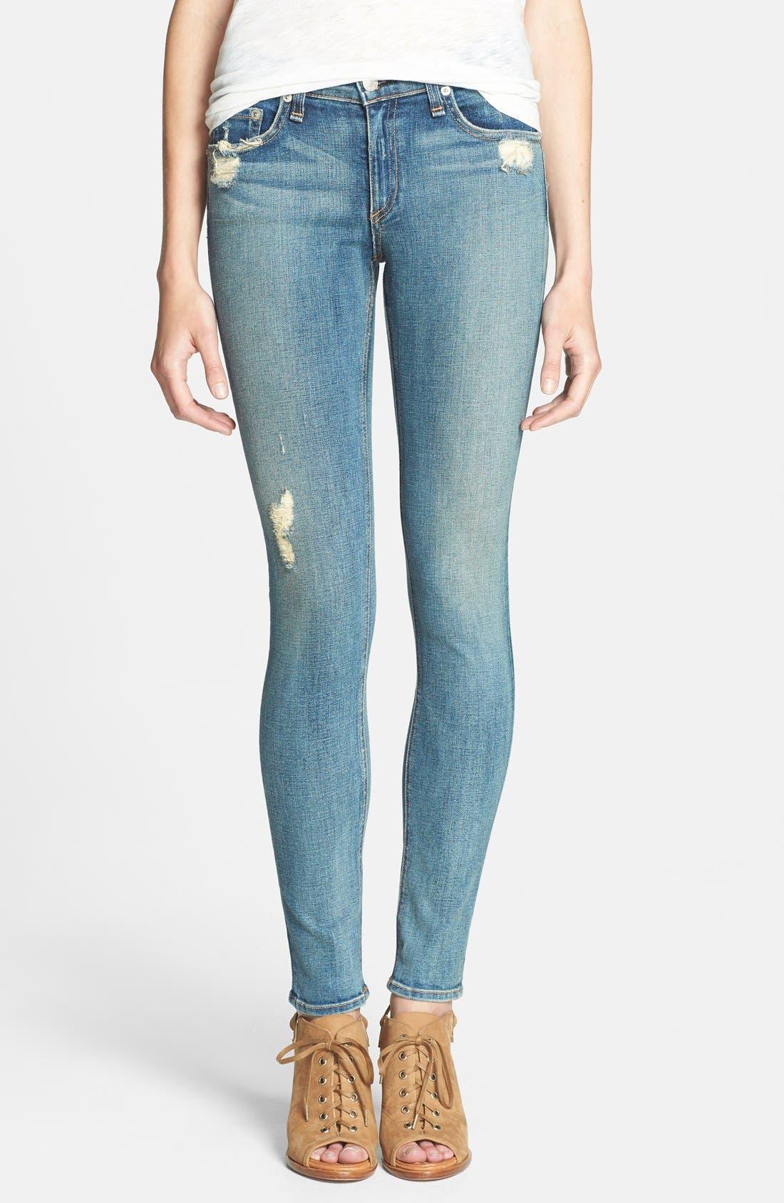 Alternate Image 1 Selected - rag & bone/JEAN Stretch Skinny Jeans