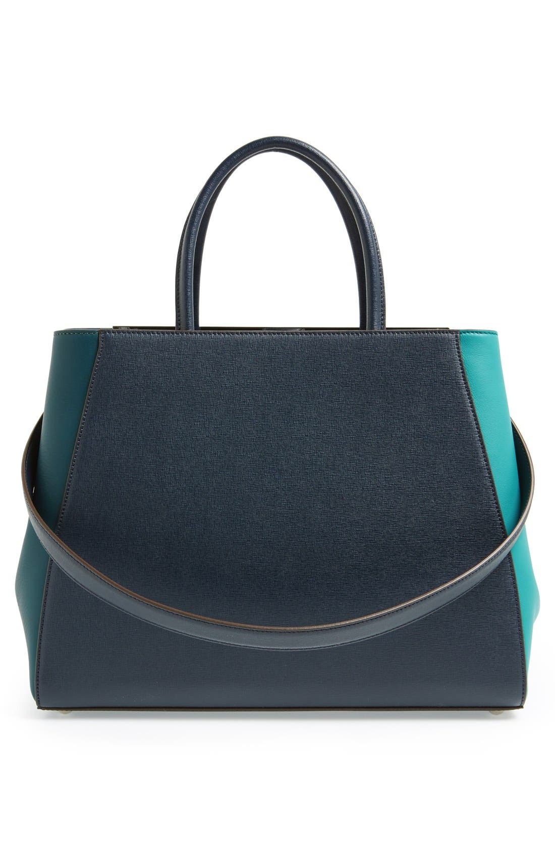 Alternate Image 4  - Fendi 'Medium 2Jours Tricolor' Leather Shopper