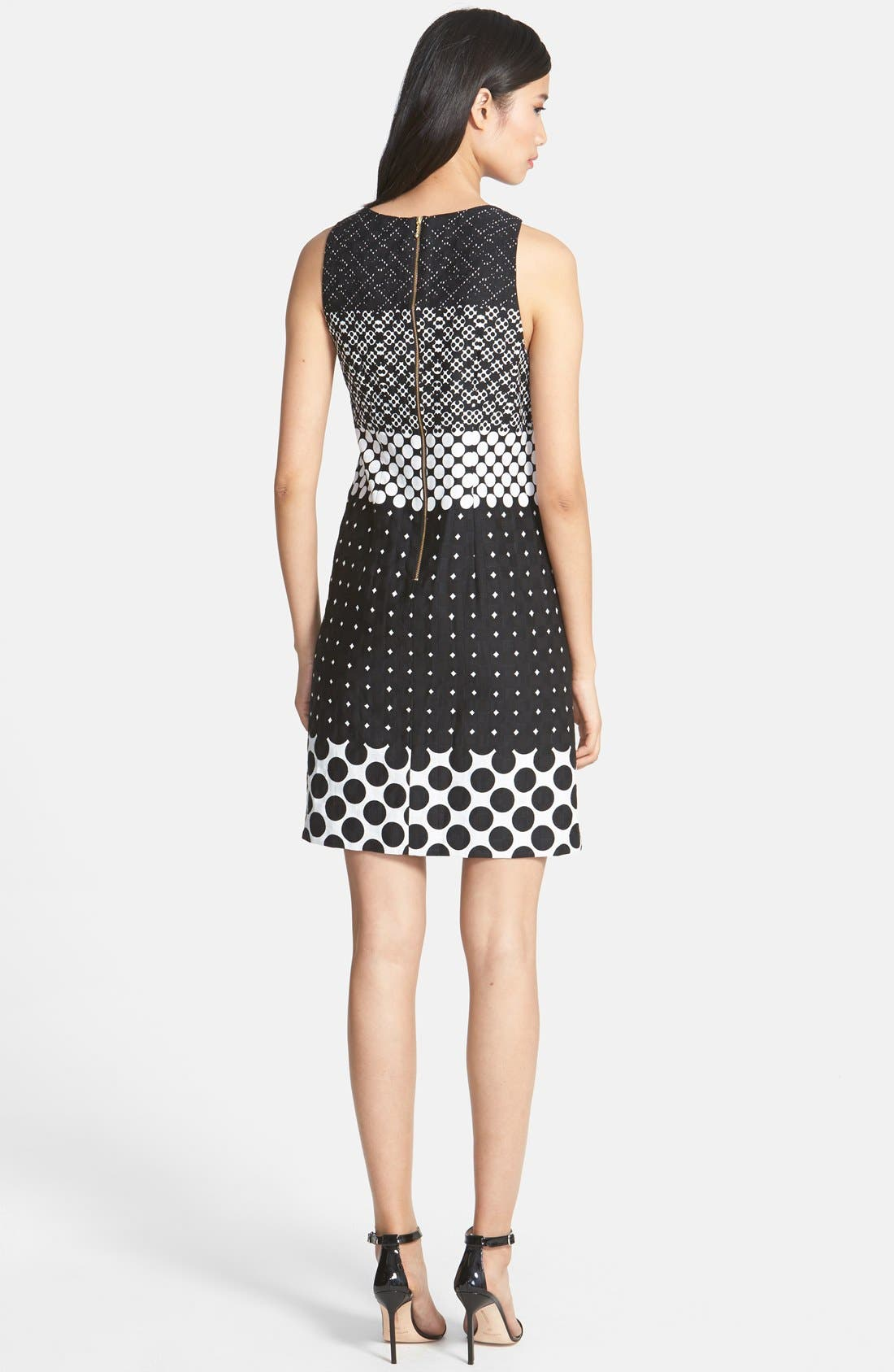 Alternate Image 2  - Taylor Dresses Print Cotton Jacquard Shift Dress