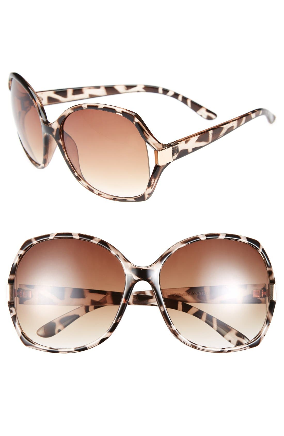 Main Image - Icon Eyewear Oversized Square Sunglasses (Juniors)