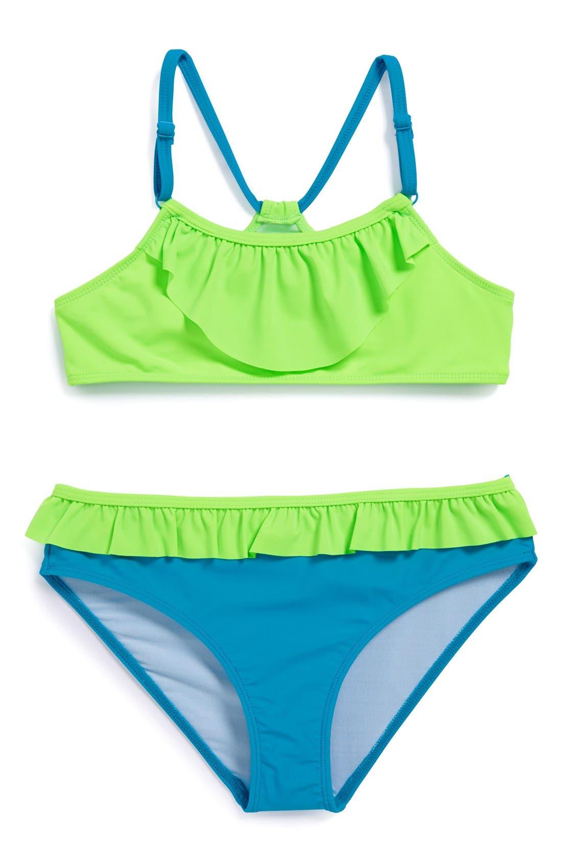 Main Image - Tucker + Tate 'Sunny' Two-Piece Swimsuit (Little Girls & Big Girls)