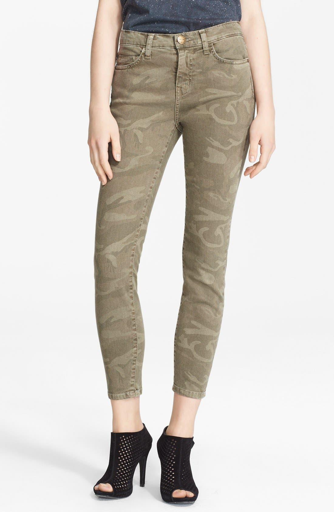 Alternate Image 1 Selected - Current/Elliott 'The Stiletto' Print Skinny Jeans (Camo)
