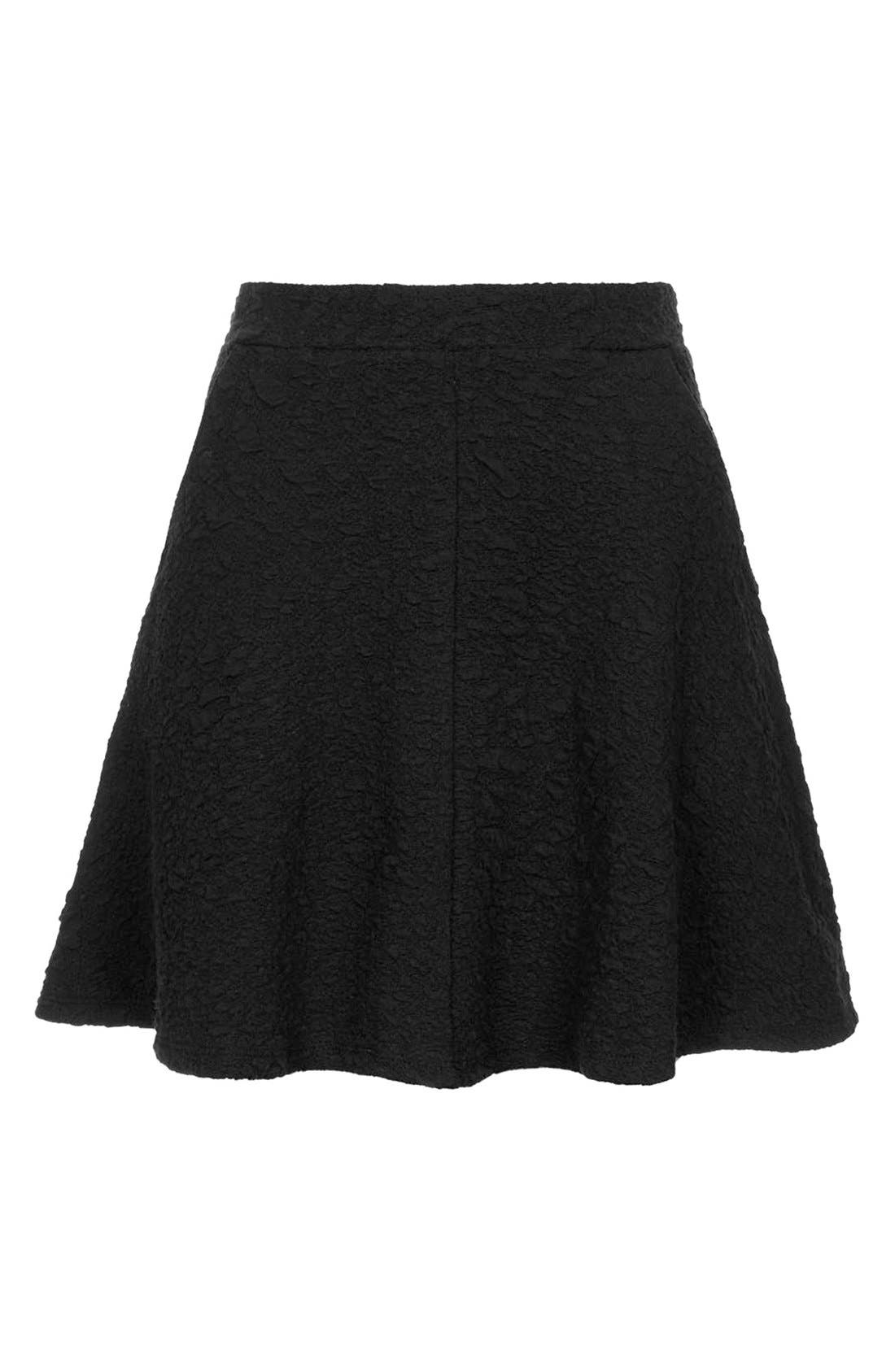Alternate Image 3  - Topshop Jacquard Skater Skirt