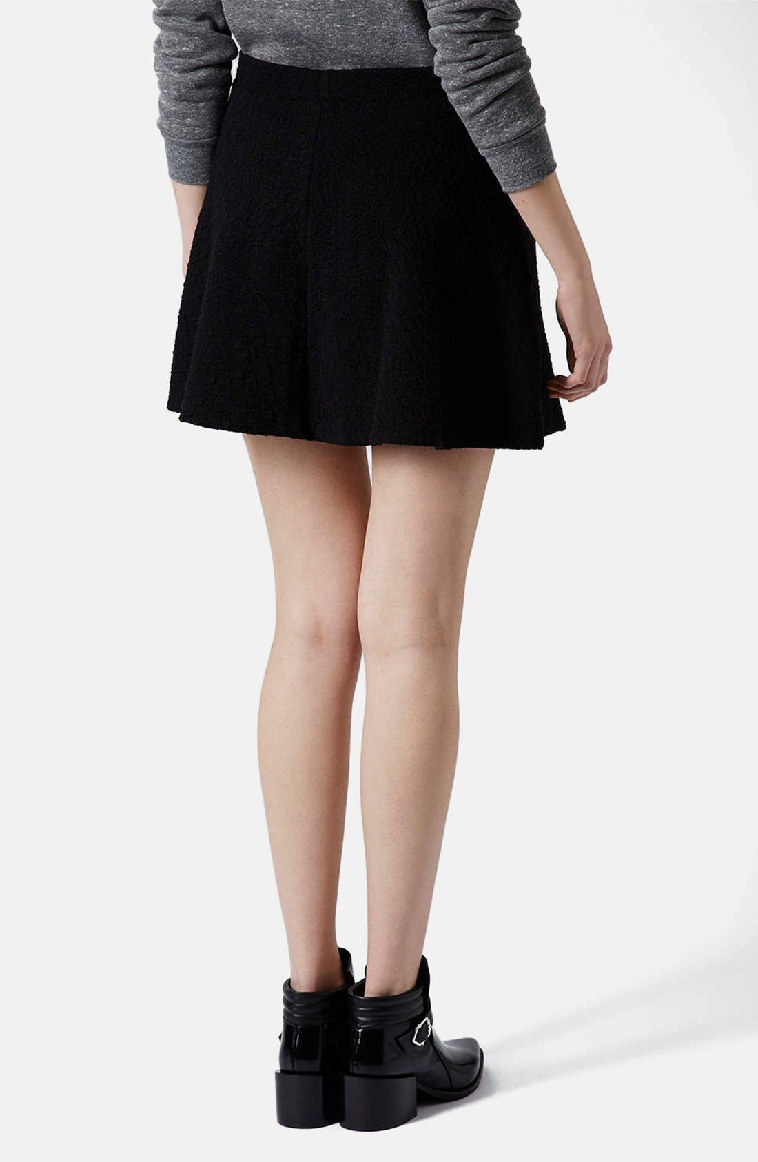 Alternate Image 2  - Topshop Jacquard Skater Skirt