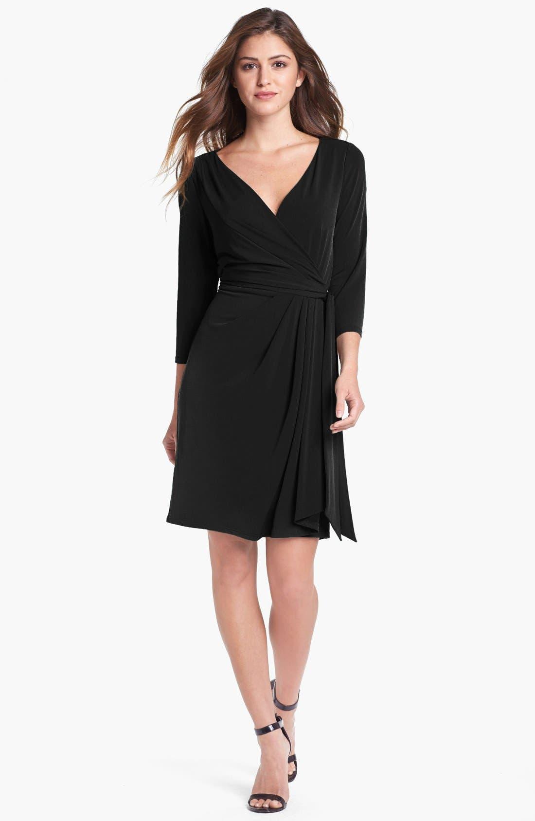 Alternate Image 3  - Ivy & Blu Jersey Faux Wrap Dress