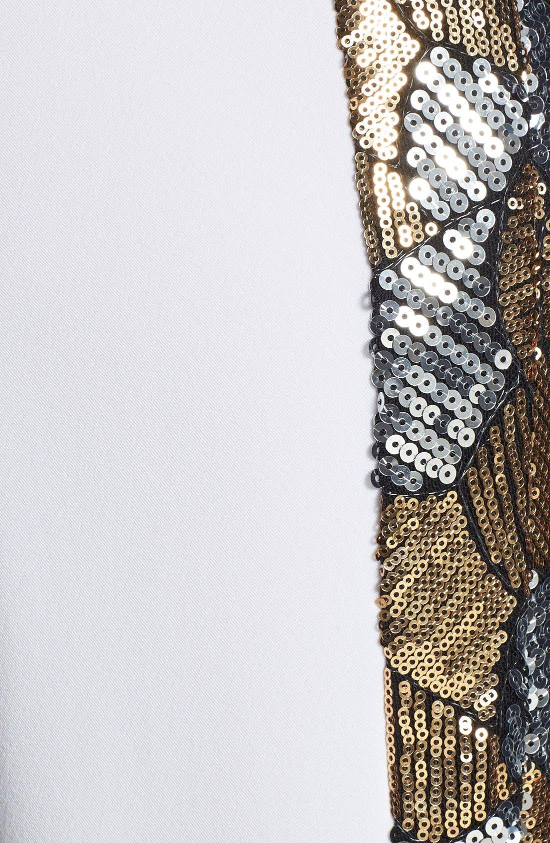 Alternate Image 3  - Rules of Etiquette Sequin Tuxedo Stripe Crop Pants