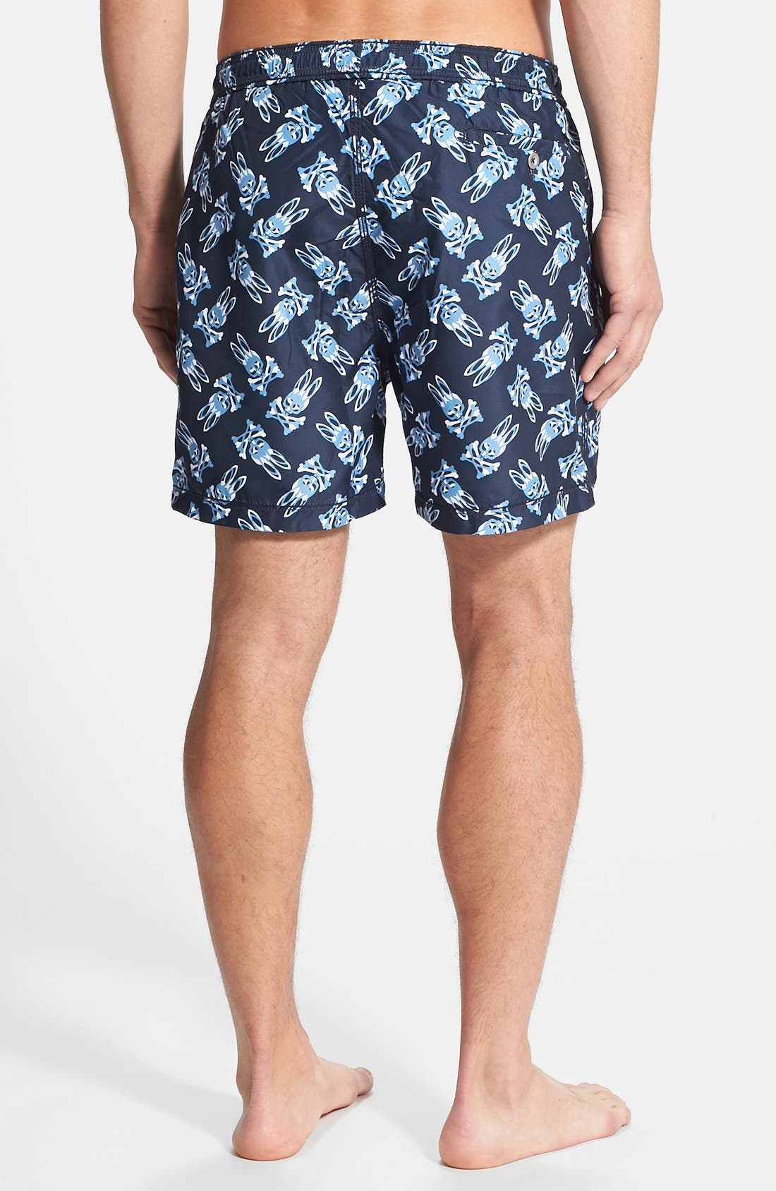 Alternate Image 2  - Psycho Bunny Shadow Print Swim Trunks