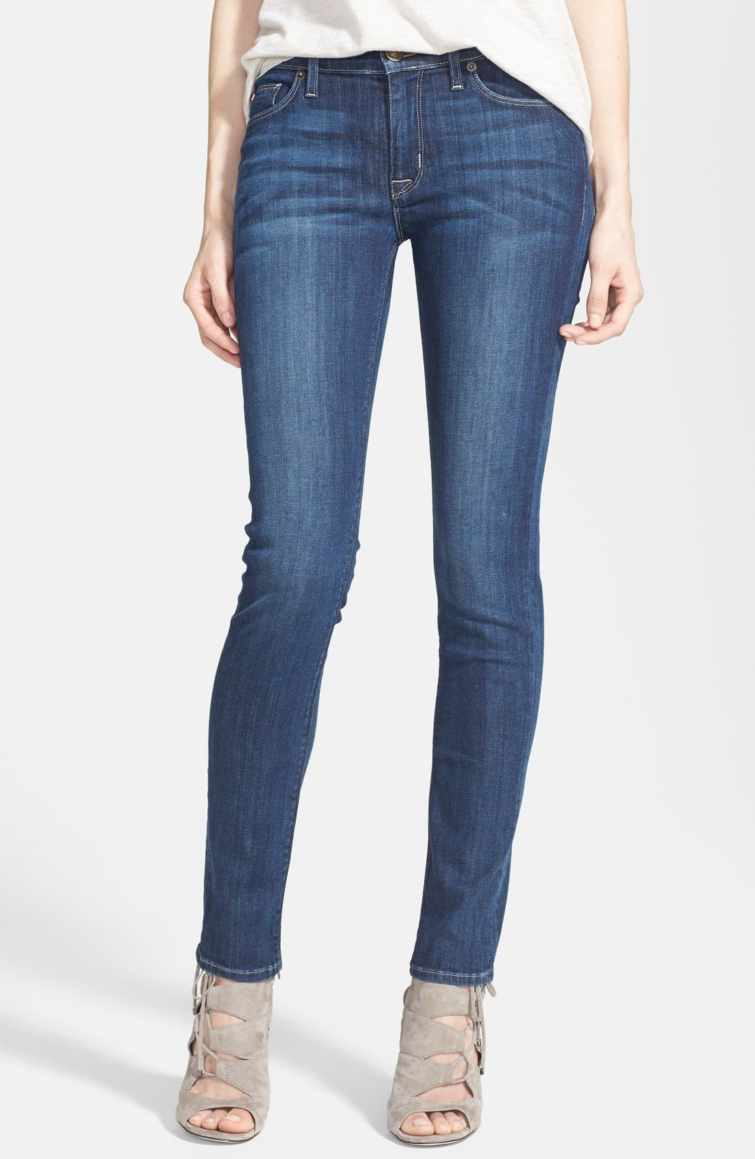 Alternate Image 1 Selected - Hudson Jeans 'Collette' Skinny Jeans (Cascade) (Nordstrom Exclusive)