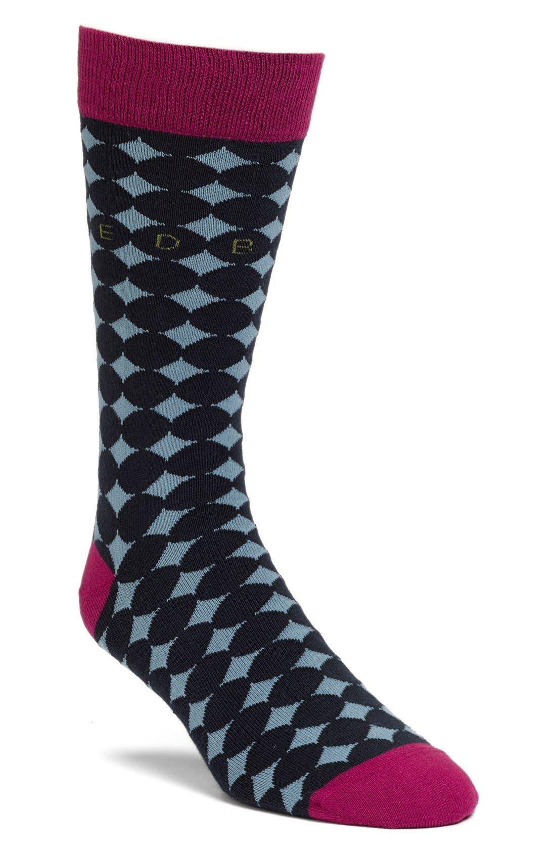 Alternate Image 1 Selected - Ted Baker London Dot Socks (3 for $38)