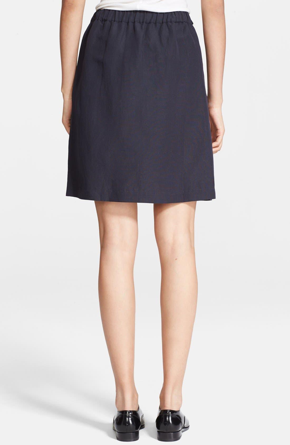Alternate Image 2  - A.P.C. Drawstring Linen Blend Skirt
