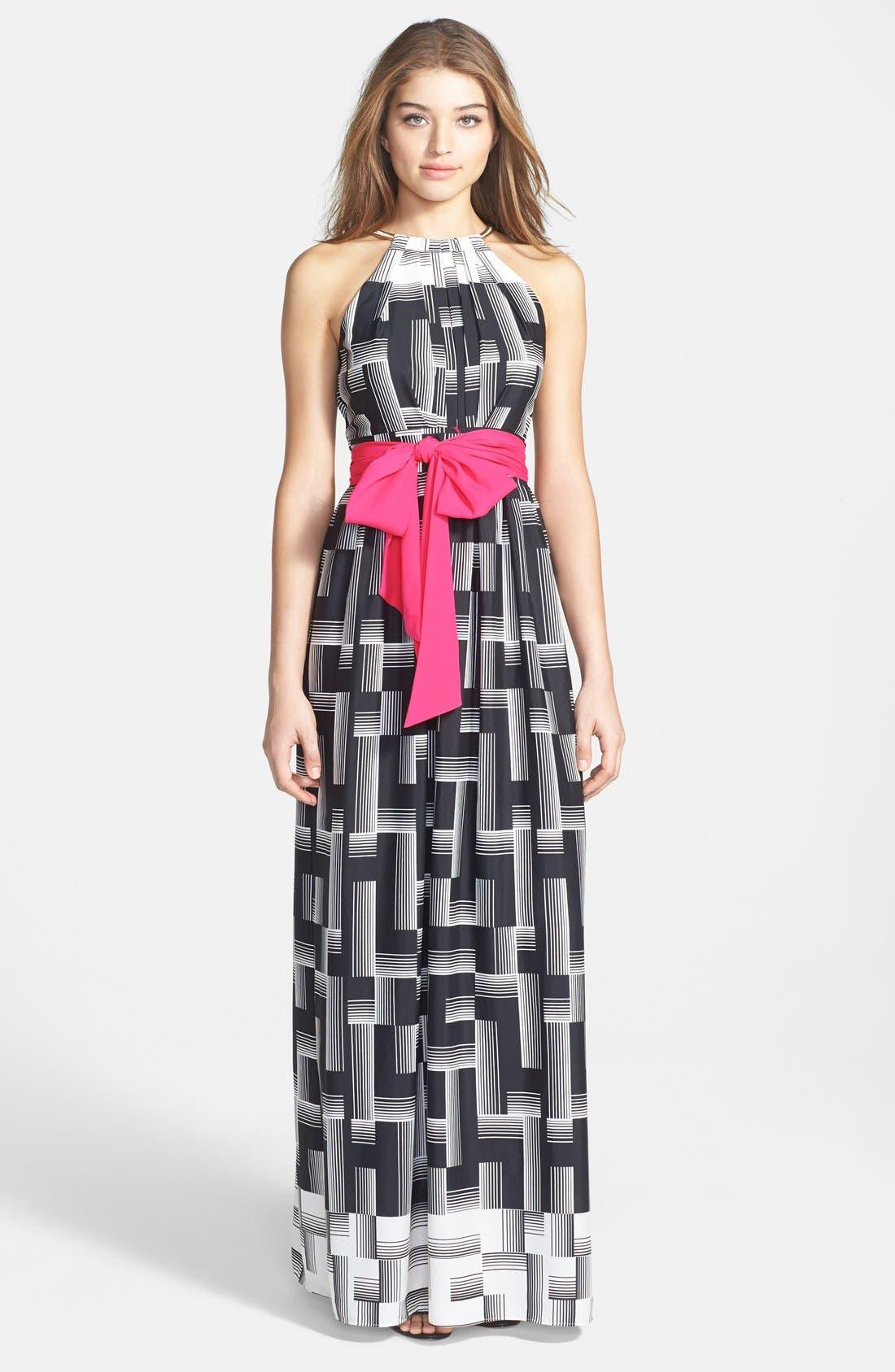 Alternate Image 1 Selected - Eliza J Geo Print Maxi Dress (Regular & Petite)