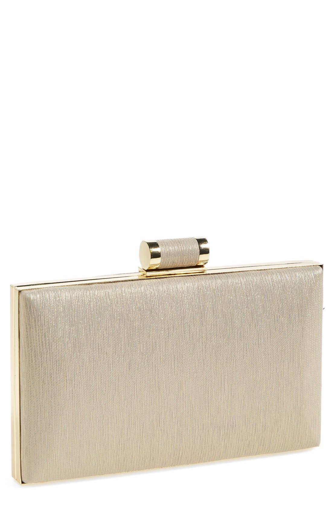 Alternate Image 1 Selected - Ivanka Trump Faux Leather Minaudiere Clutch