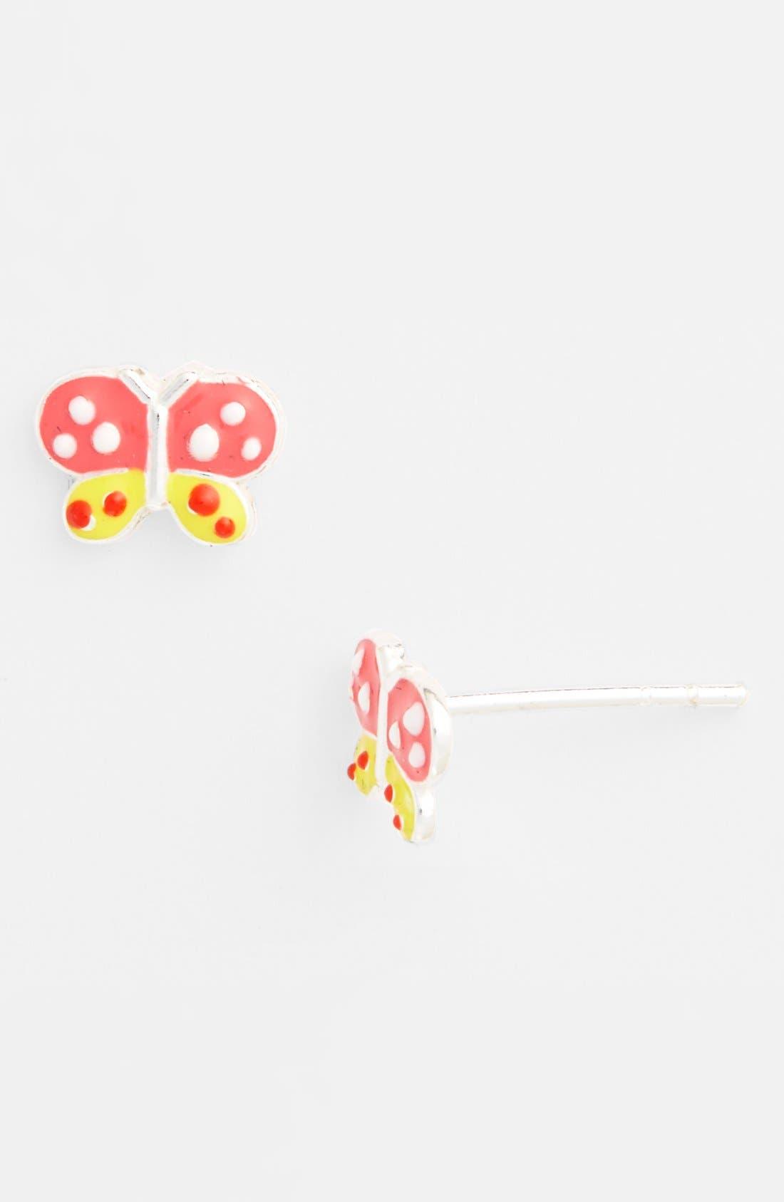 Alternate Image 1 Selected - Tomas 'Butterfly' Sterling Silver Stud Earrings (Girls)