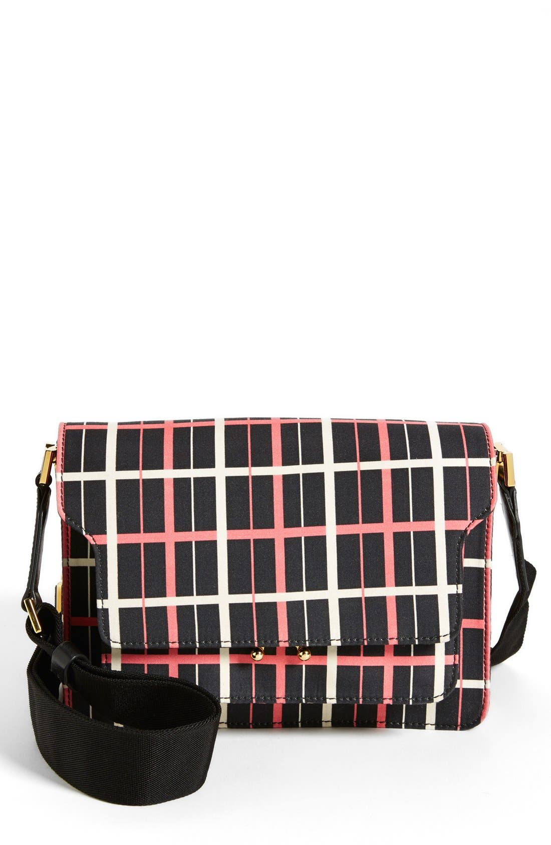 Alternate Image 1 Selected - Marni Graphic Print Double Partition Crossbody Bag