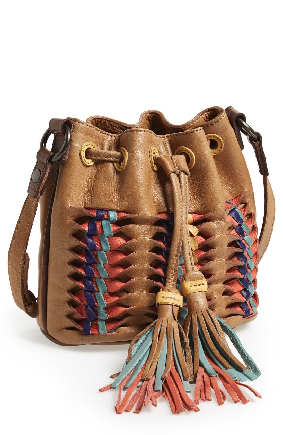 Main Image - Frye 'Heather' Leather Bucket Bag