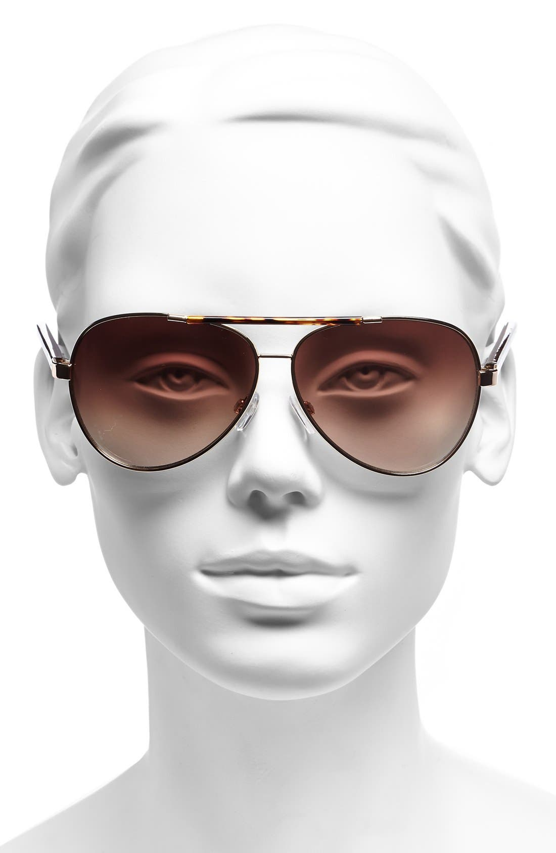 Alternate Image 2  - Vince Camuto 60mm Aviator Sunglasses (Online Only)