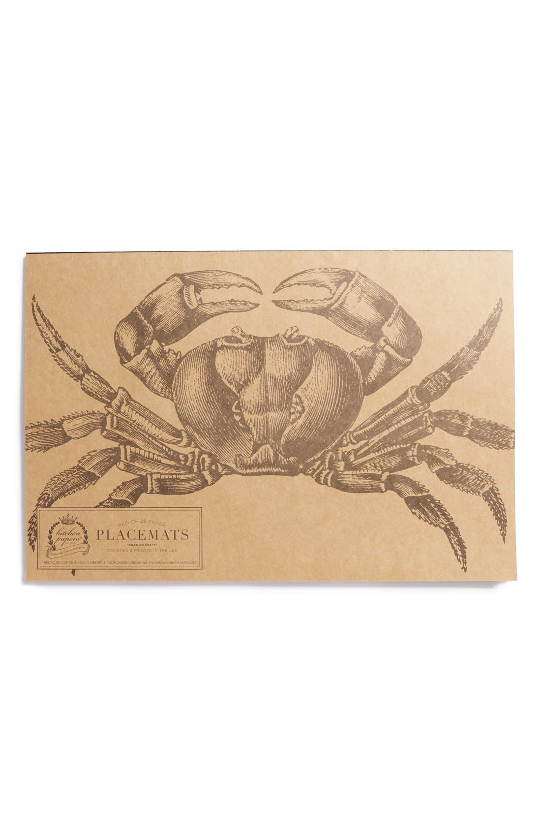 Main Image - Kitchen Papers by Cake 'Crab on Kraft' Paper Placemat Pad