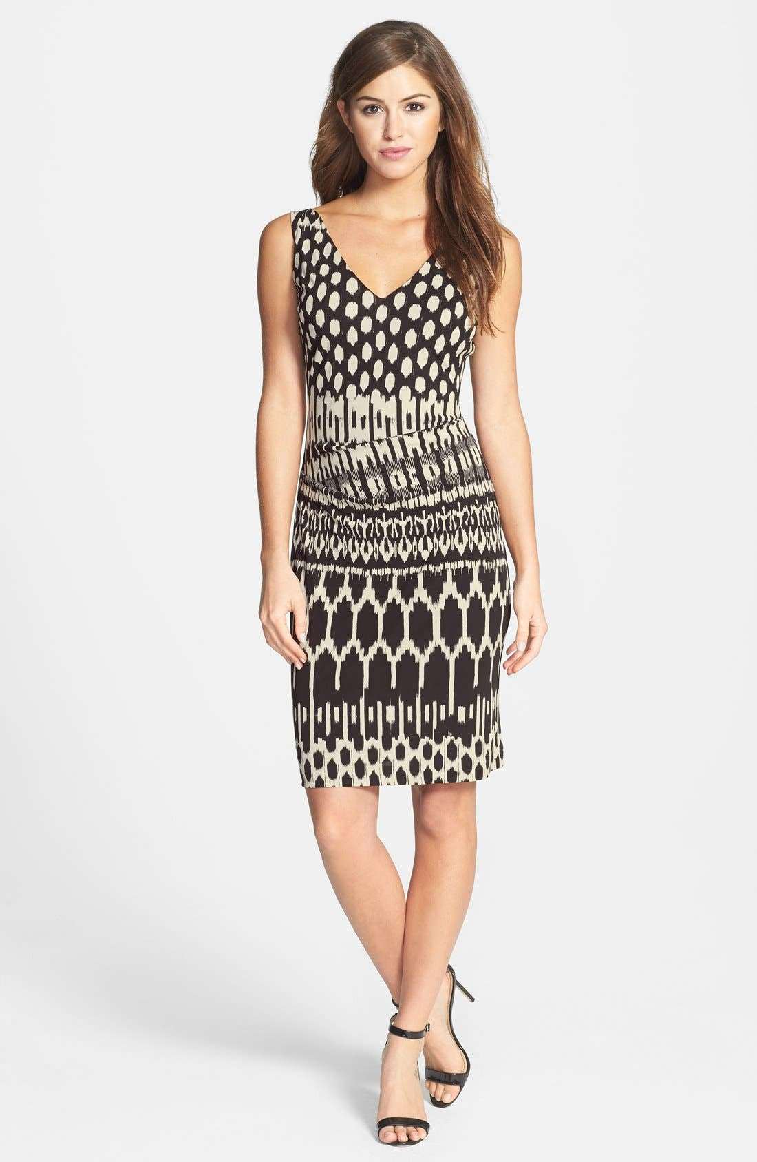 Alternate Image 3  - Nicole Miller Tucked Print Jersey Dress