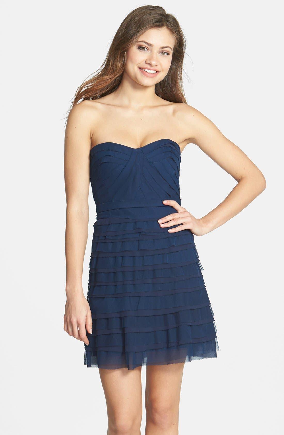 Alternate Image 1 Selected - BCBGMAXAZRIA 'Cocco' Tiered Chiffon Dress