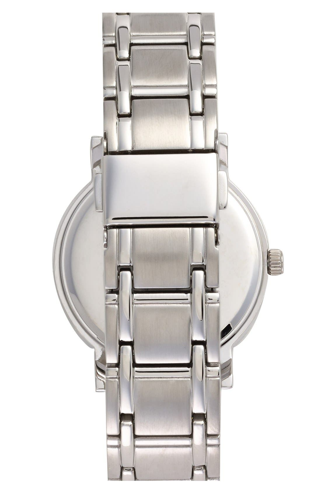 Alternate Image 2  - Game Time Watches 'MLB All Star' Crystal Bezel Bracelet Watch, 32mm