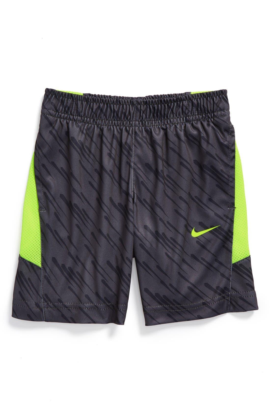 Alternate Image 1 Selected - Nike 'Speed GFX' Dri-FIT Shorts (Toddler Boys)