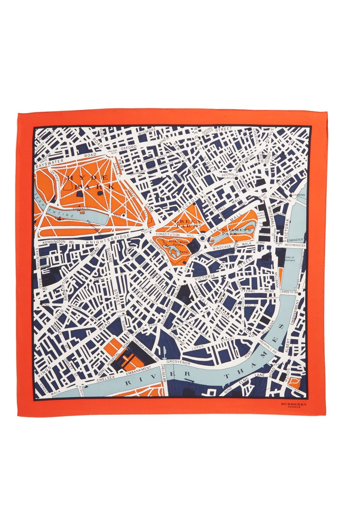 Alternate Image 2  - Burberry Prorsum 'London Map' Silk Scarf