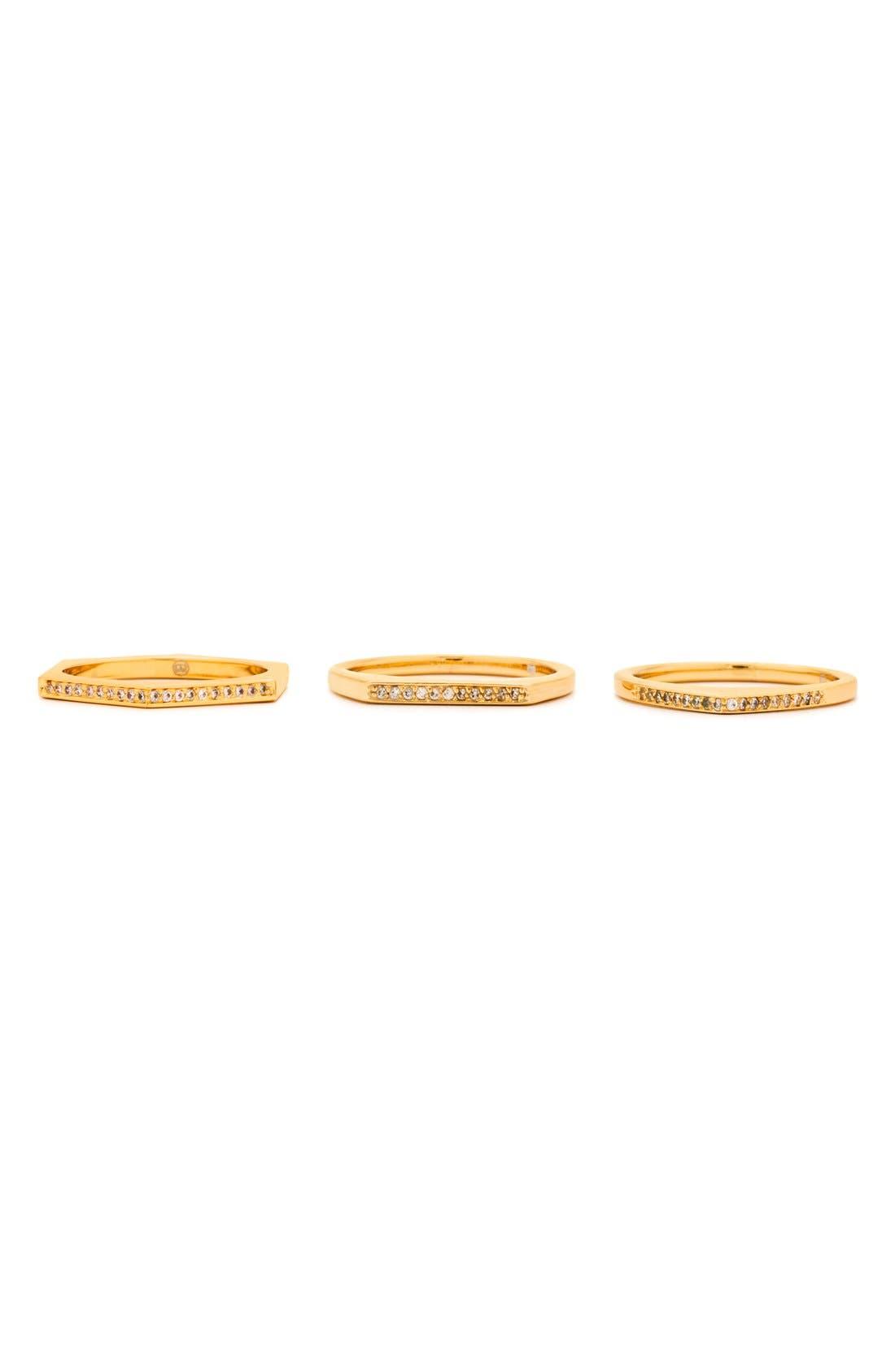 Alternate Image 2  - gorjana 'Mila Shimmer' Stackable Rings (Set of 3)