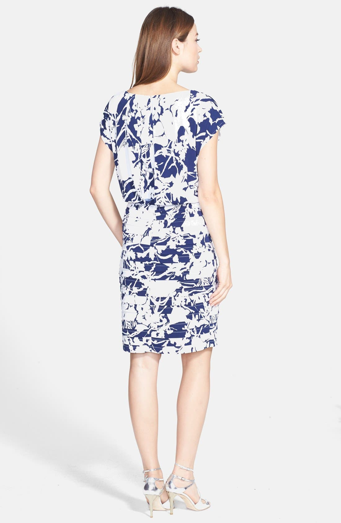 Alternate Image 2  - Adrianna Papell Print Blouson Jersey Dress