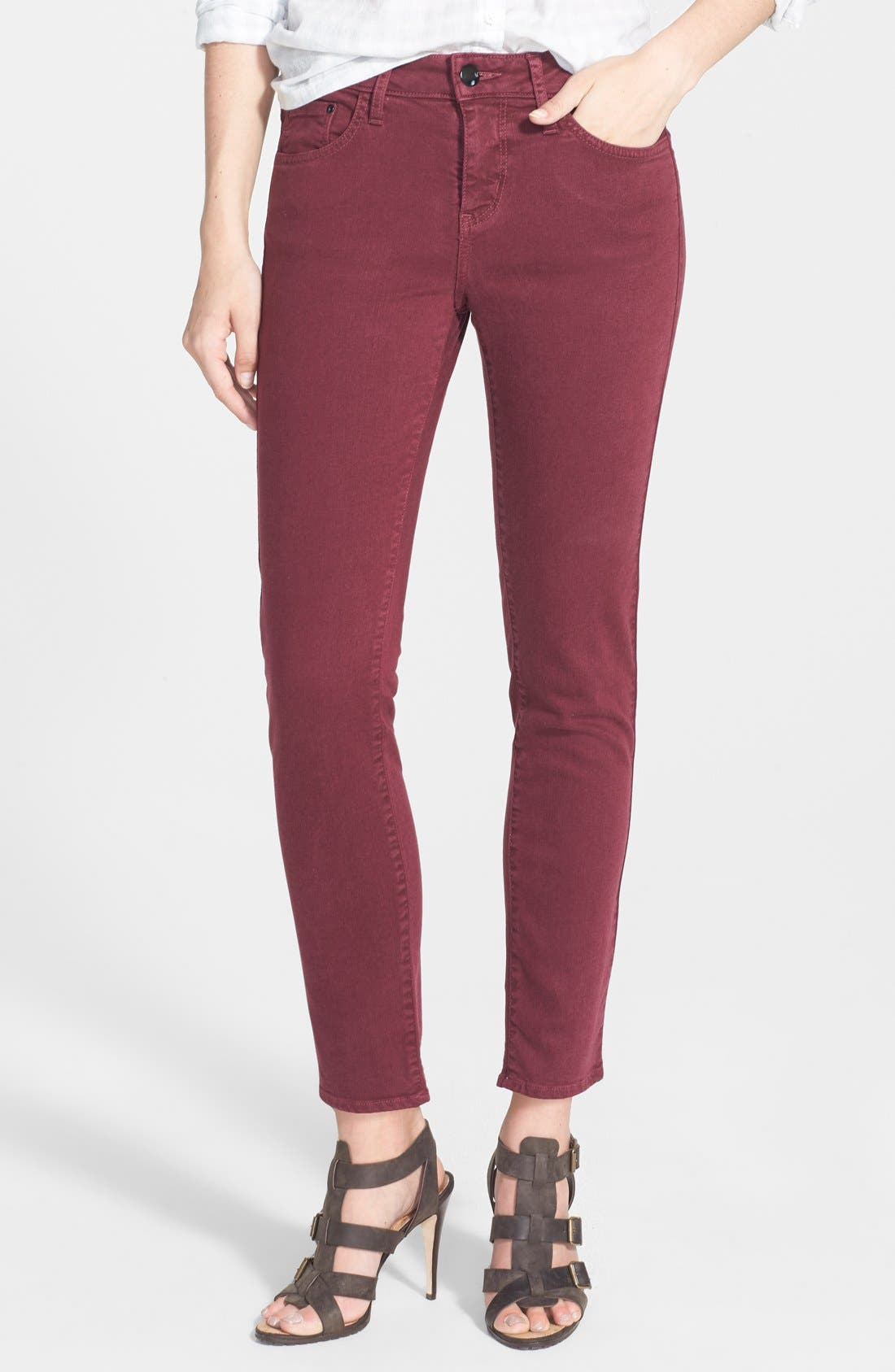Alternate Image 1 Selected - !iT Collective 'Taylor' Colored Easy Ankle Skinny Jeans