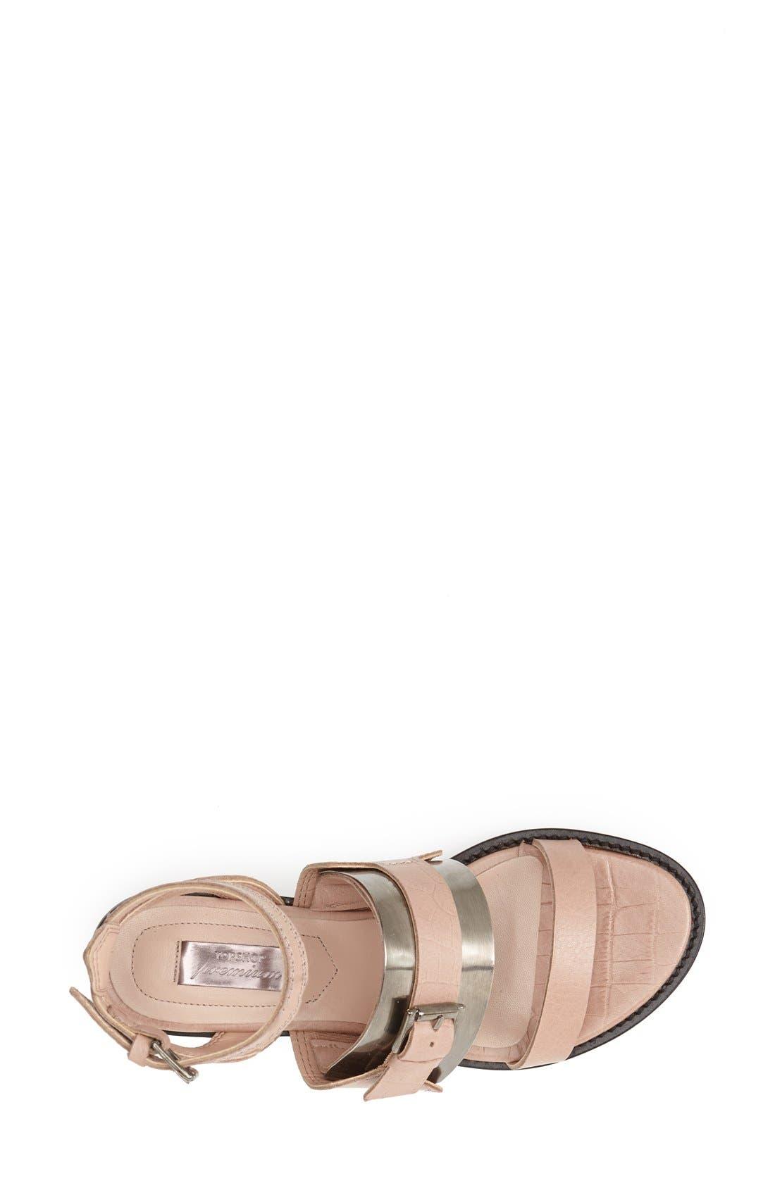 Alternate Image 3  - Topshop 'Premium - Preeta' Ankle Strap Sandal (Women)