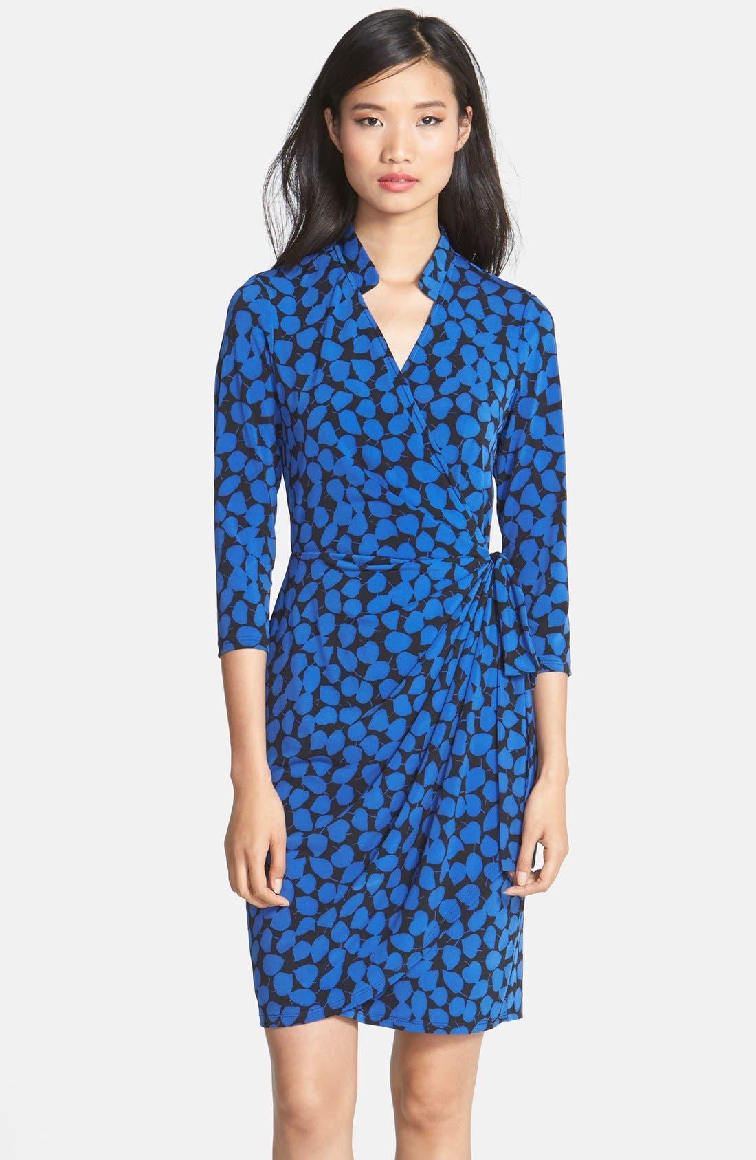 Main Image - Maggy London Print Jersey Wrap Dress