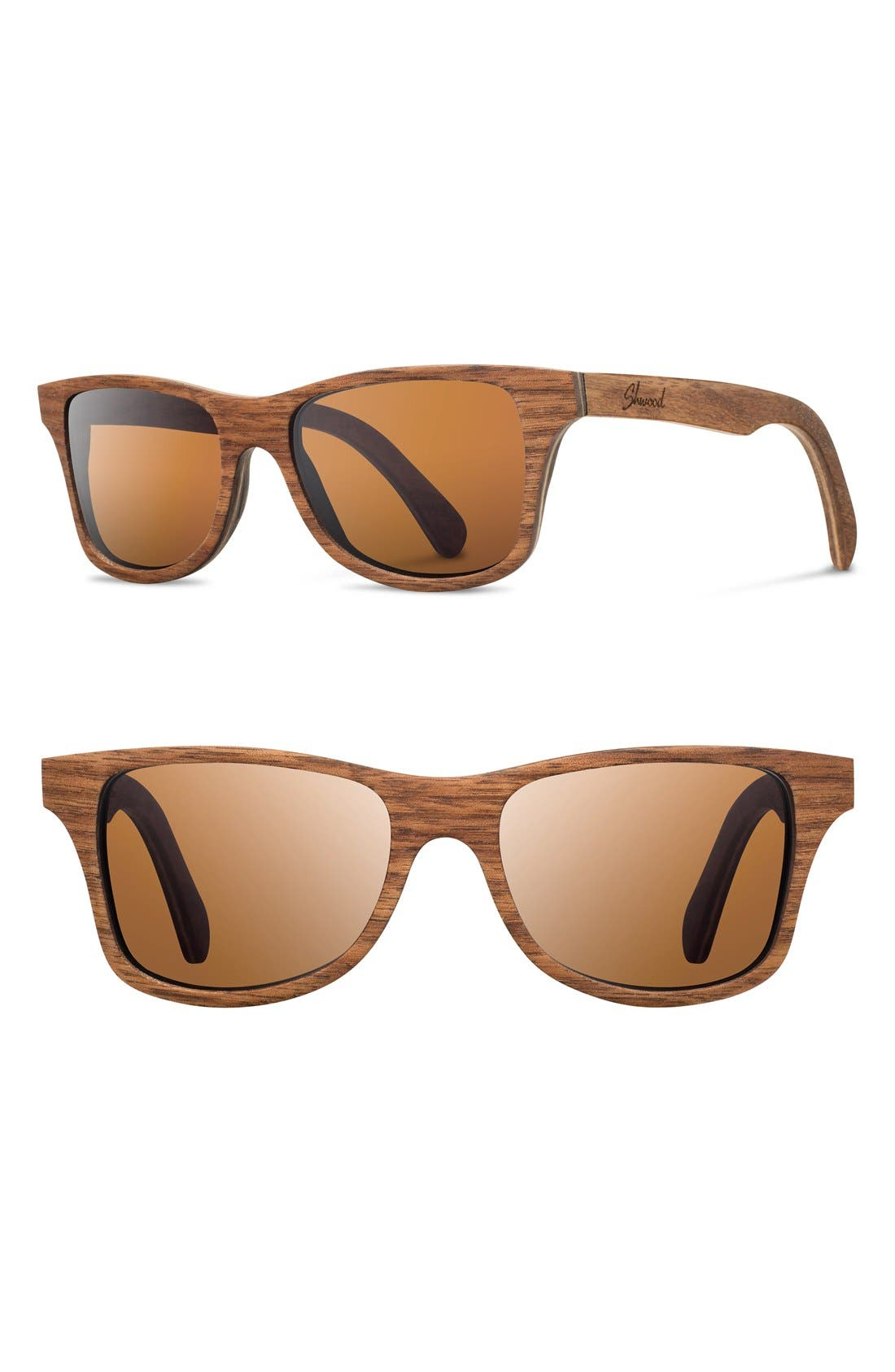 Alternate Image 1 Selected - Shwood 'Canby' 54mm Polarized Wood Sunglasses