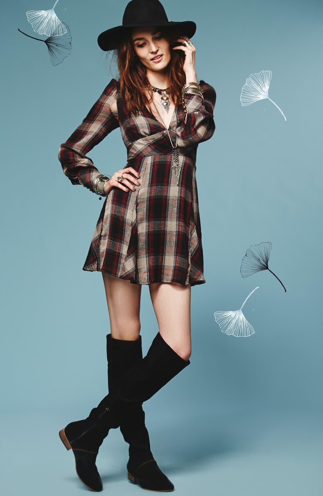 Alternate Image 5  - Free People 'Teen Spirit' Plaid Minidress