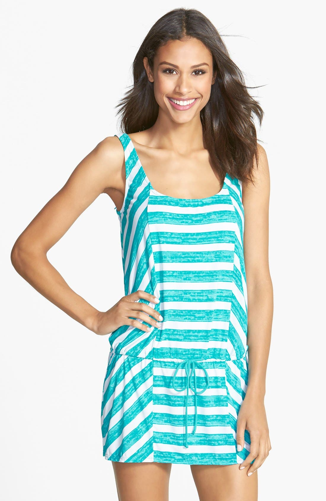Alternate Image 1 Selected - Coco Rave 'Lucky Girls Wear Stripes' Cover-Up Tank Dress