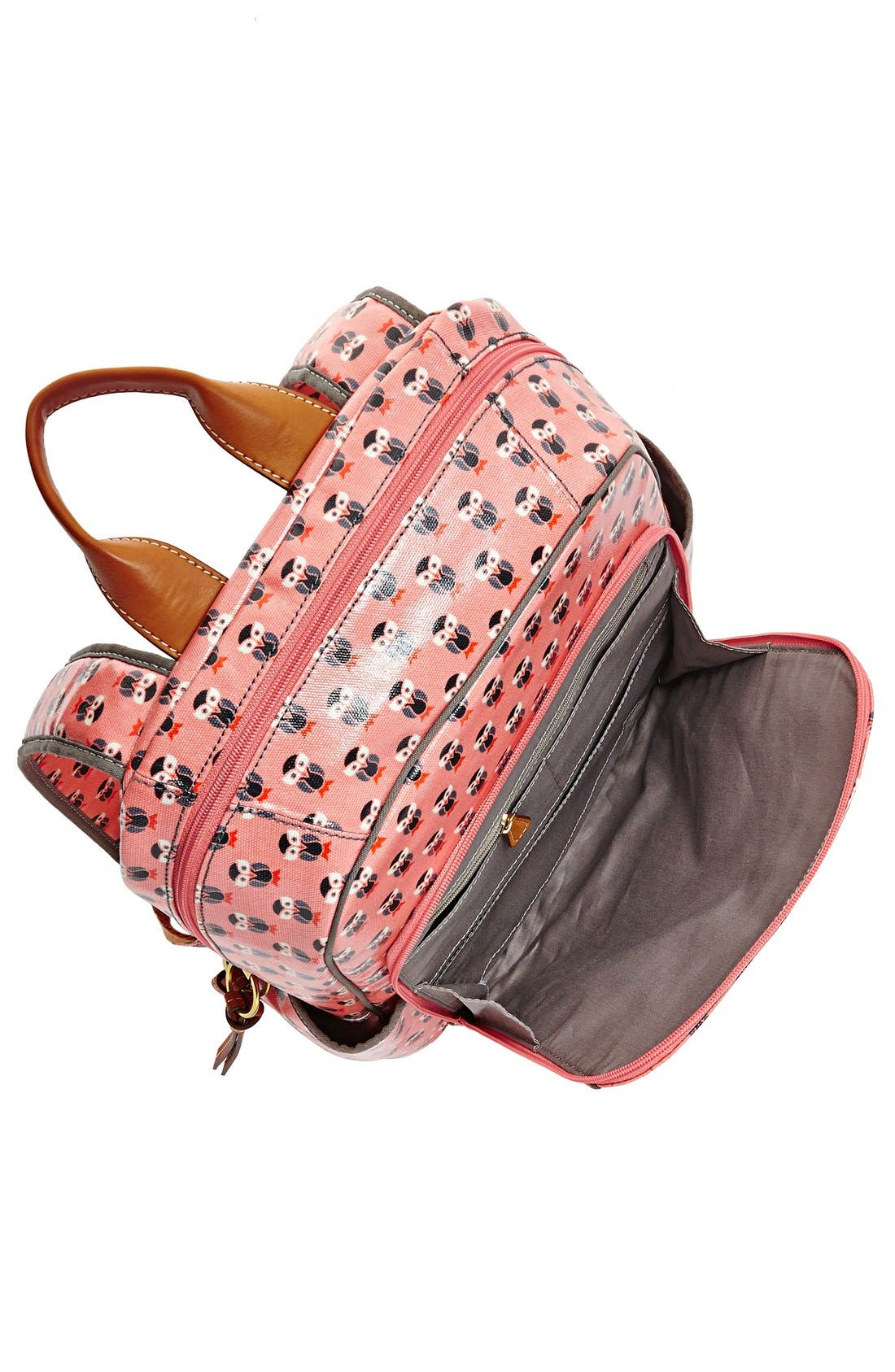 Alternate Image 4  - Fossil 'Key-Per' Print Coated Canvas Backpack