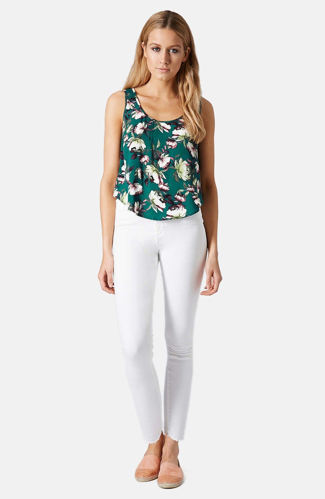 Alternate Image 5  - Topshop Moto 'Joni' High Rise Crop Skinny Jeans (White)