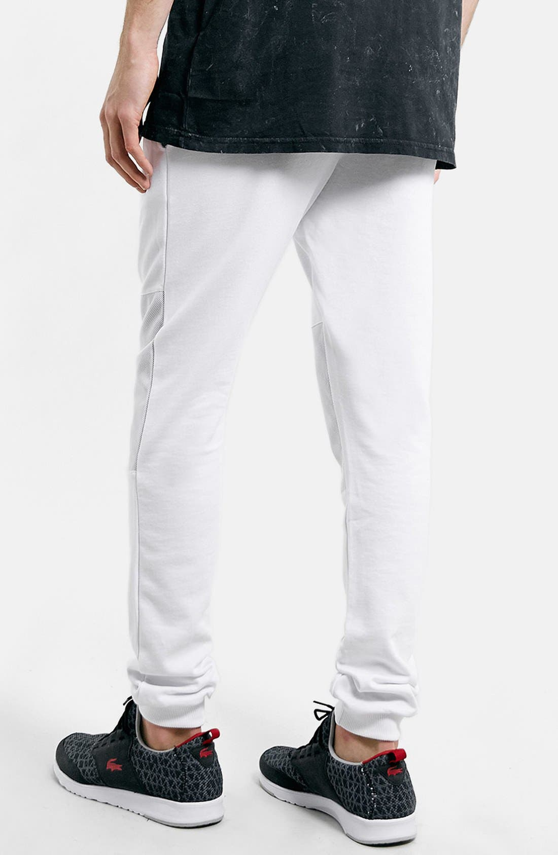 Alternate Image 2  - Topman Mesh Knee Jogger Pants