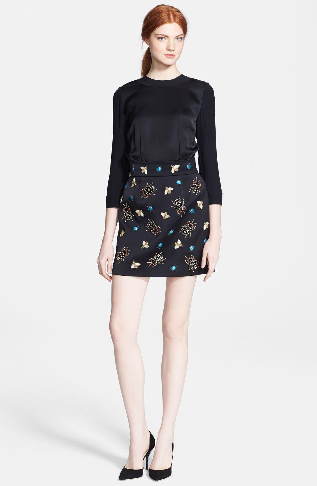 Main Image - Victoria, Victoria Beckham Embellished Satin Dress